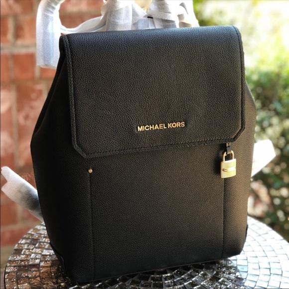 89a1d3402e03 Michael Kors Bags   Hayes Backpack Black Pebble Leather   Poshmark